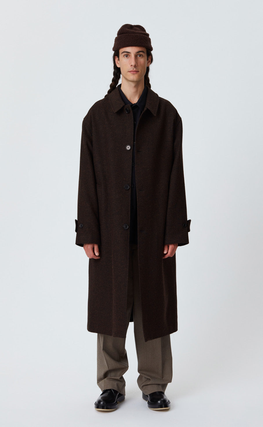 HOLLIS COAT - BROWN TWEED