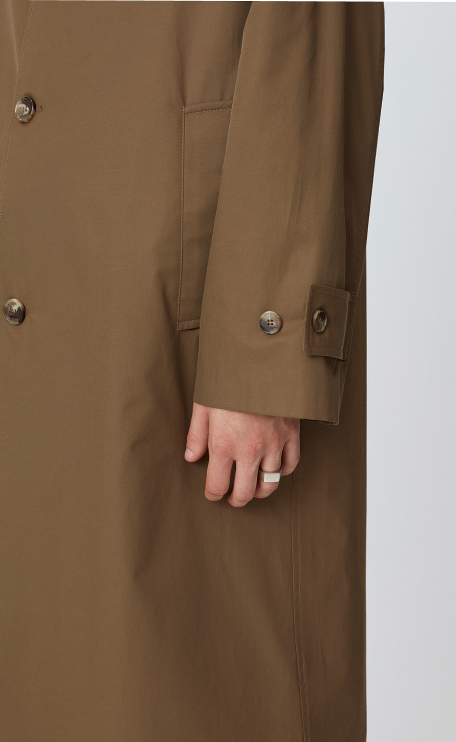 HOLLIS COAT - DARK KHAKI