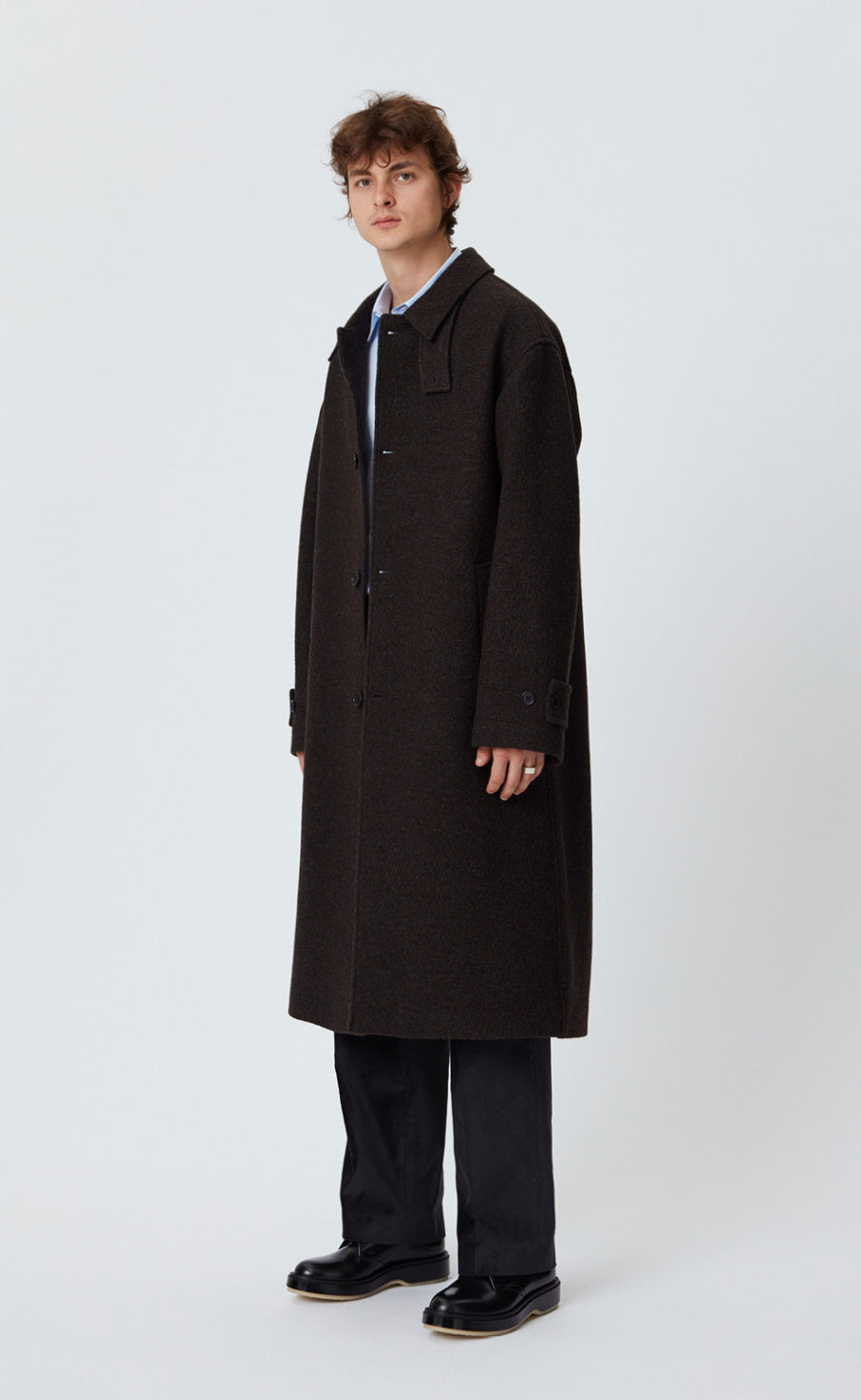 HOLLIS COAT - DARK BROWN