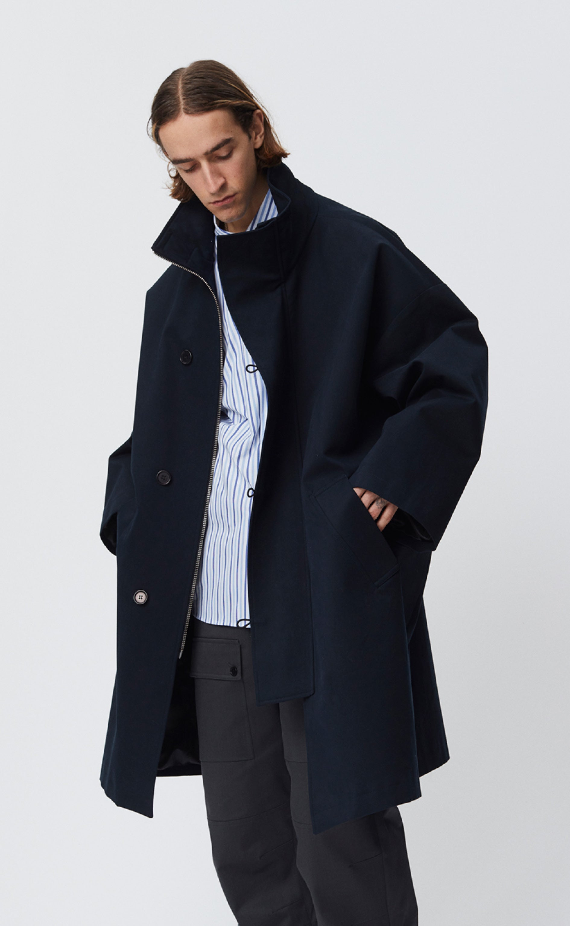 JOHNSTON COAT - DARK NAVY