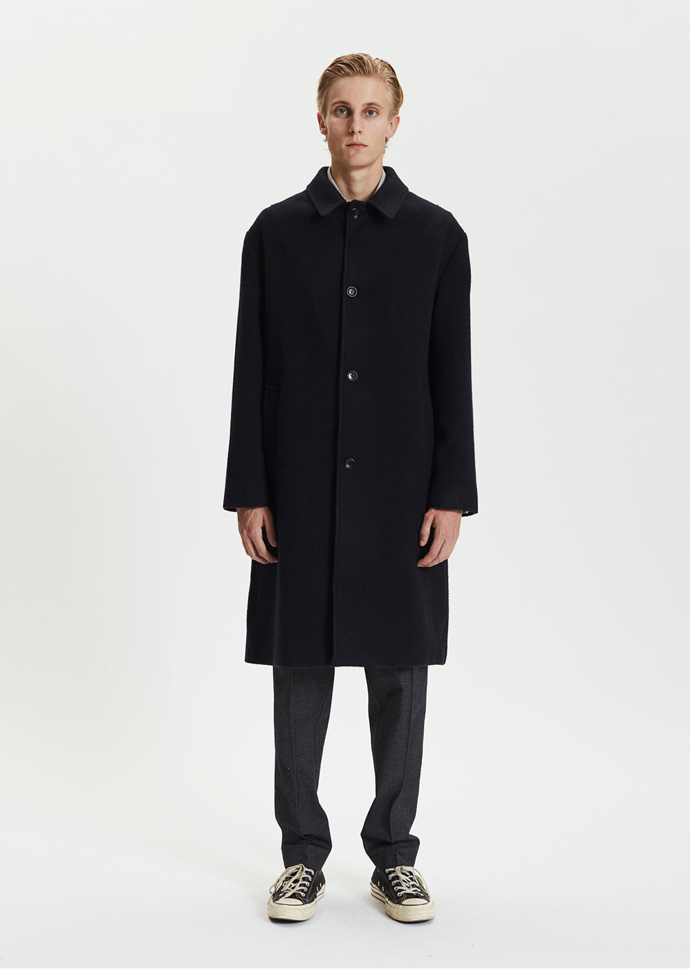 LODEN COAT - DARK NAVY