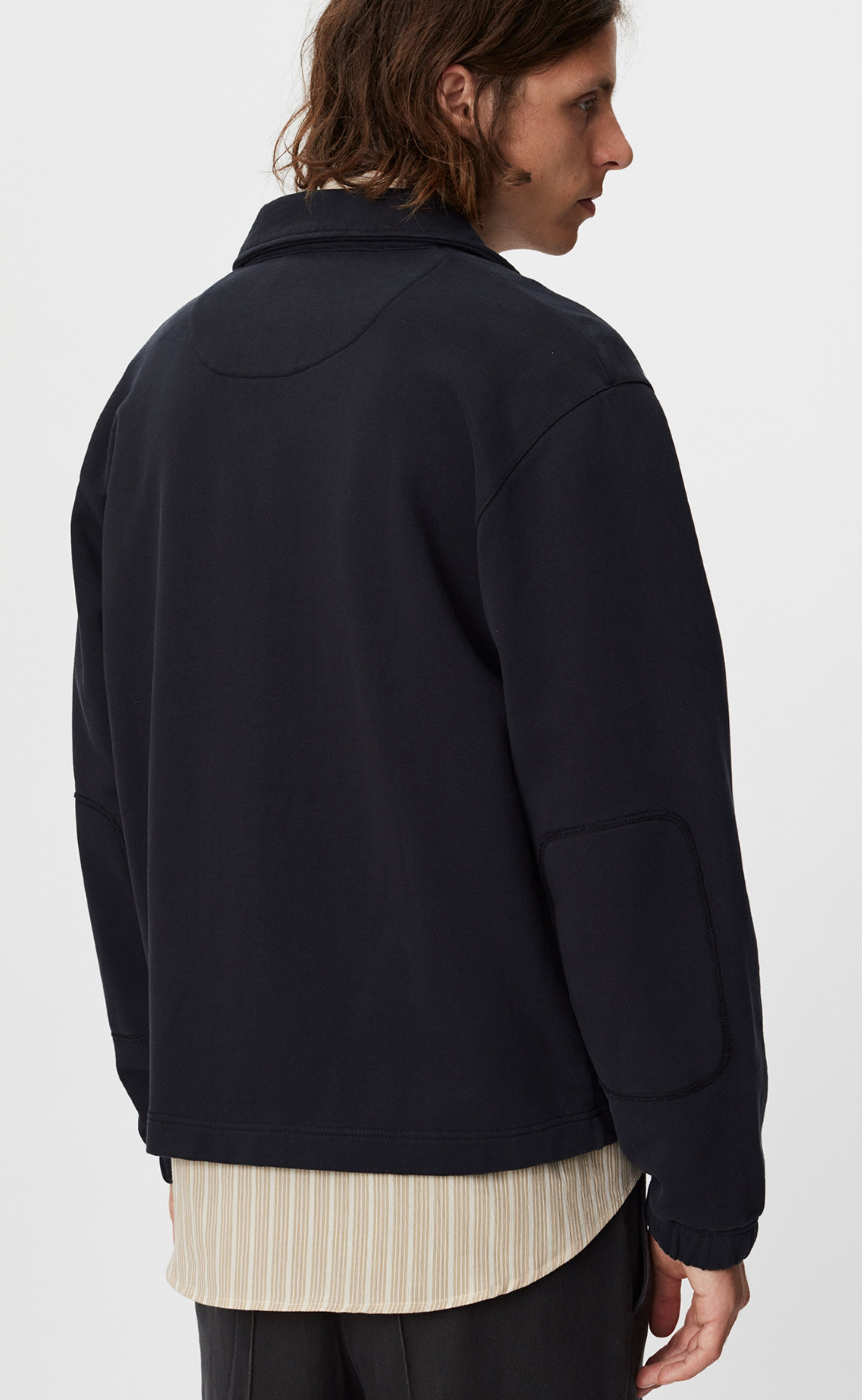 LUCEN TRACK TOP - WASHED BLACK