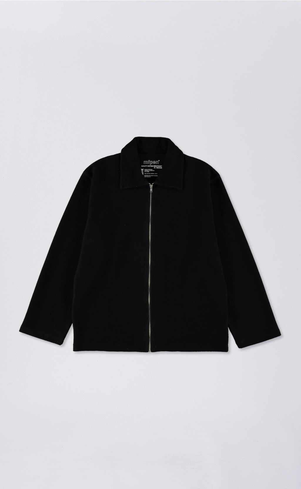 LUCEN ZIP SHIRT - BLACK
