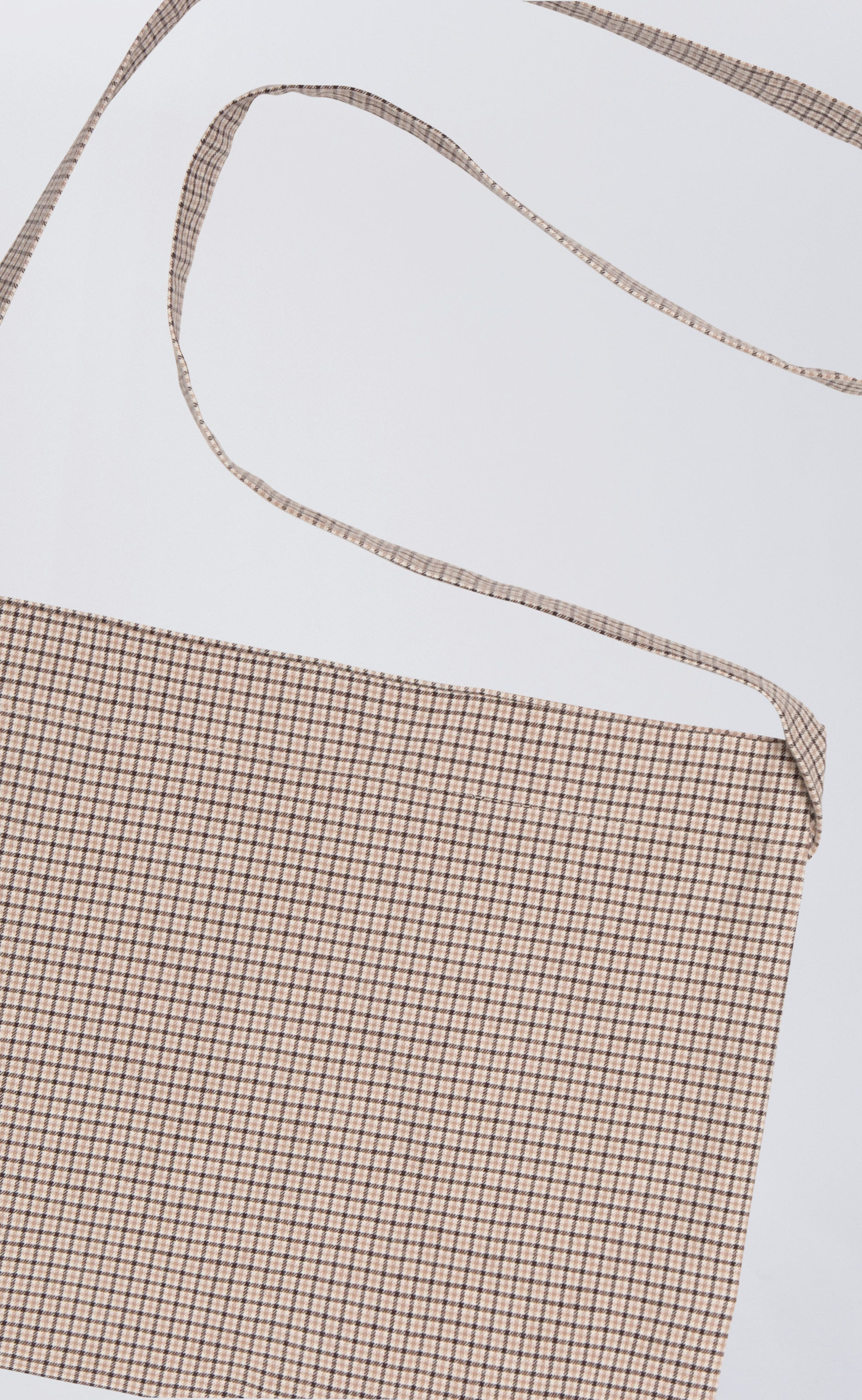 MINI TOTE - BEIGE CHECK