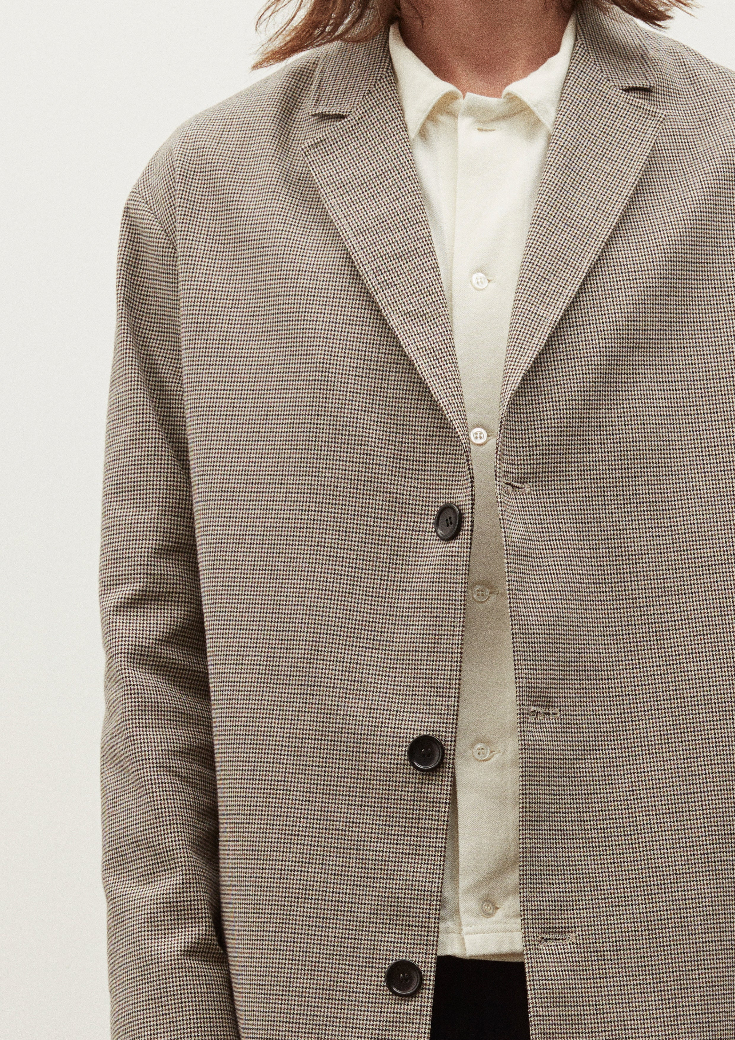 OBJECTS COAT - BEIGE CHECK