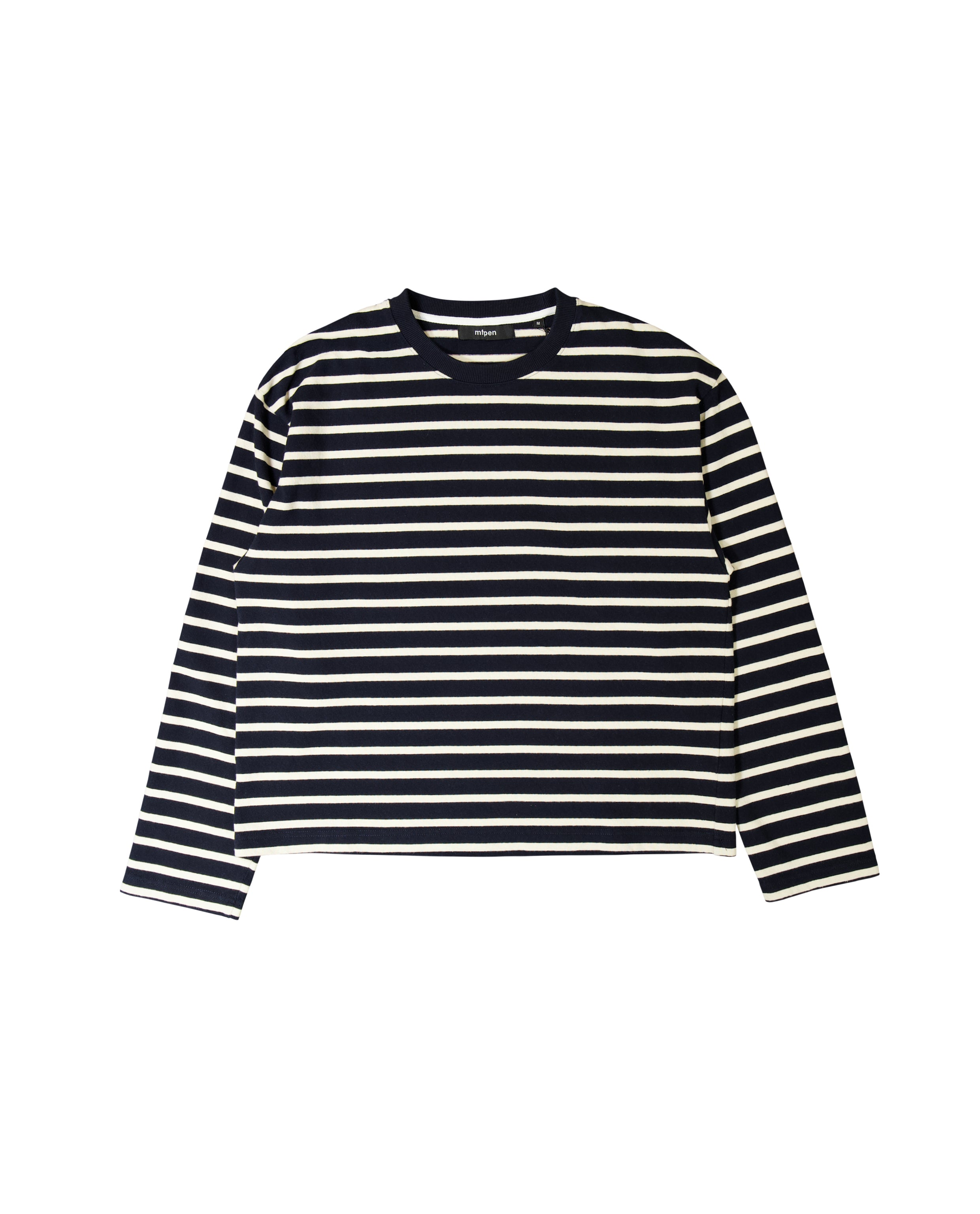 OZ LS TEE - DARK NAVY/WHITE