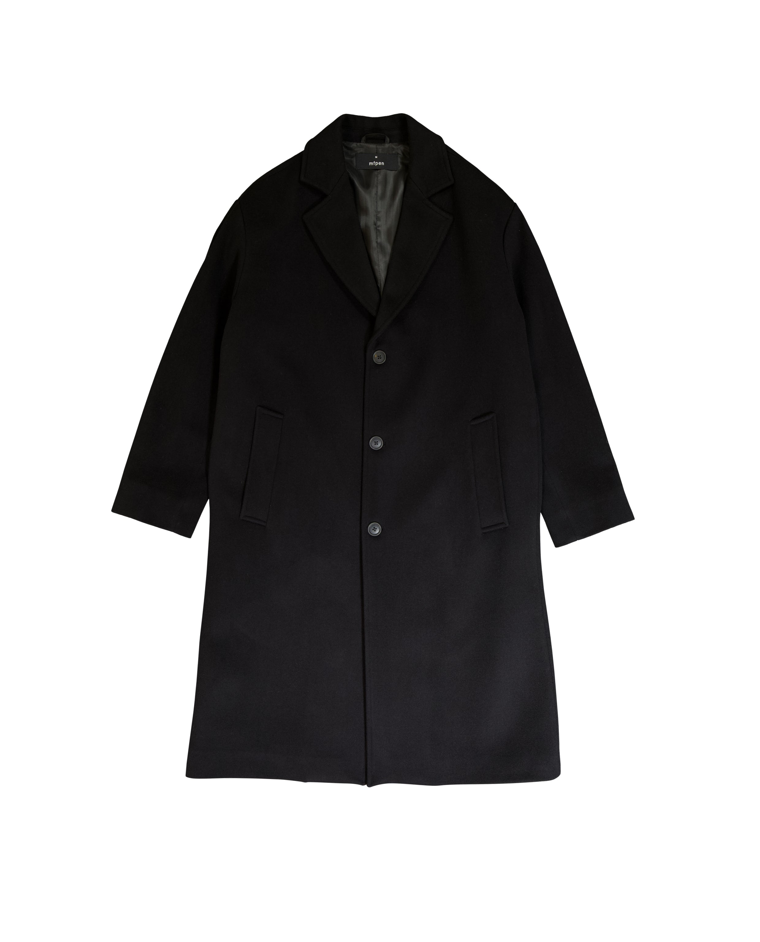 OBJECTS COAT - BLACK