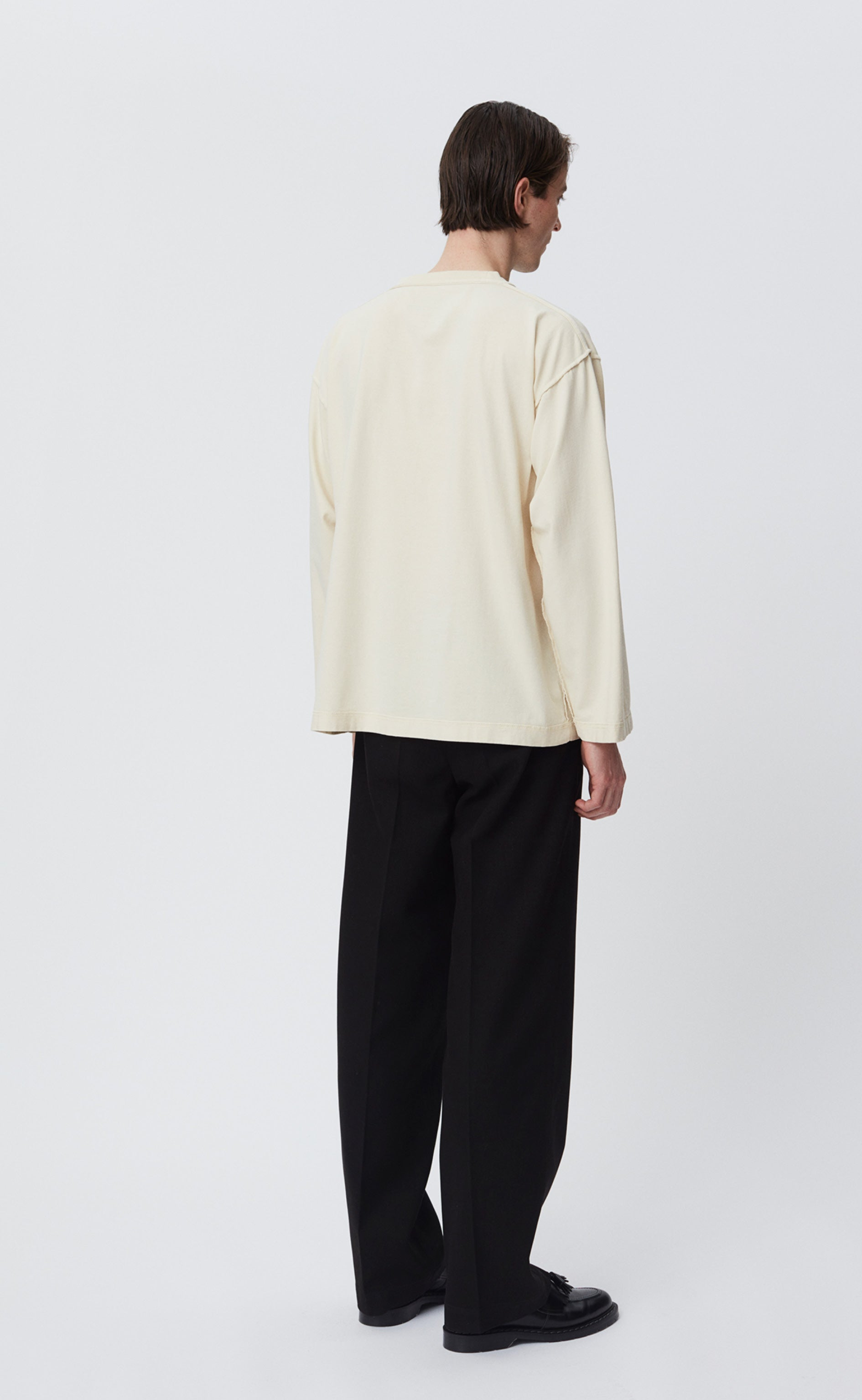 POCKET  LS TEE - CREAM