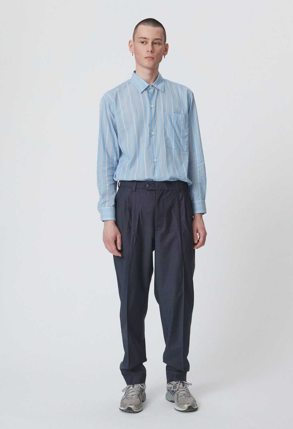 SAEVIO TROUSERS - MIDNIGHT GREY