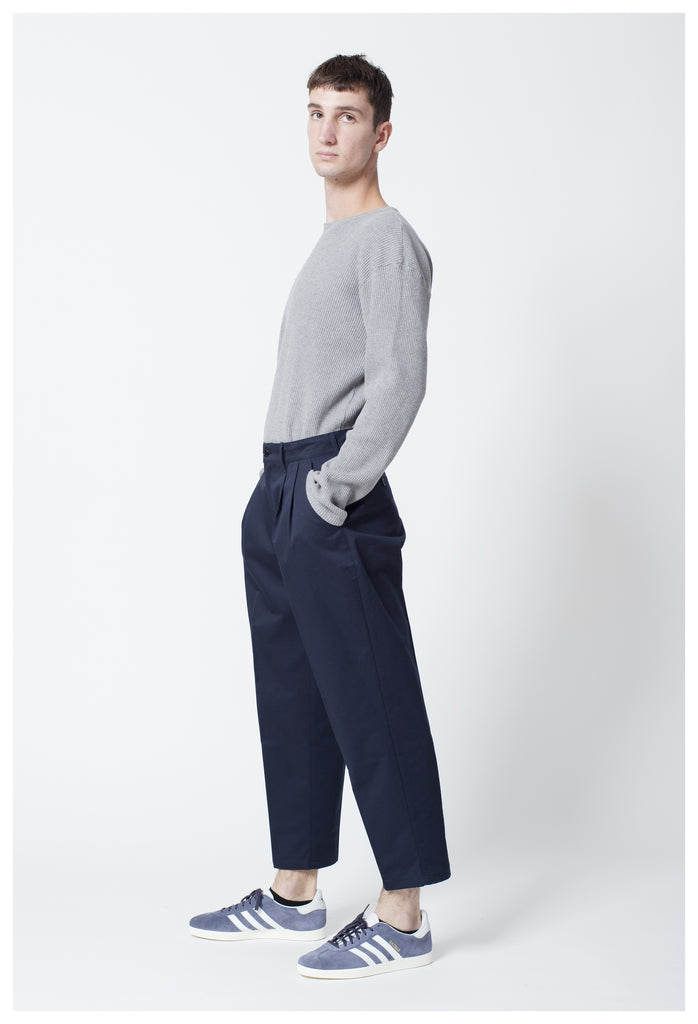 SATTIRE TROUSERS - DARK NAVY