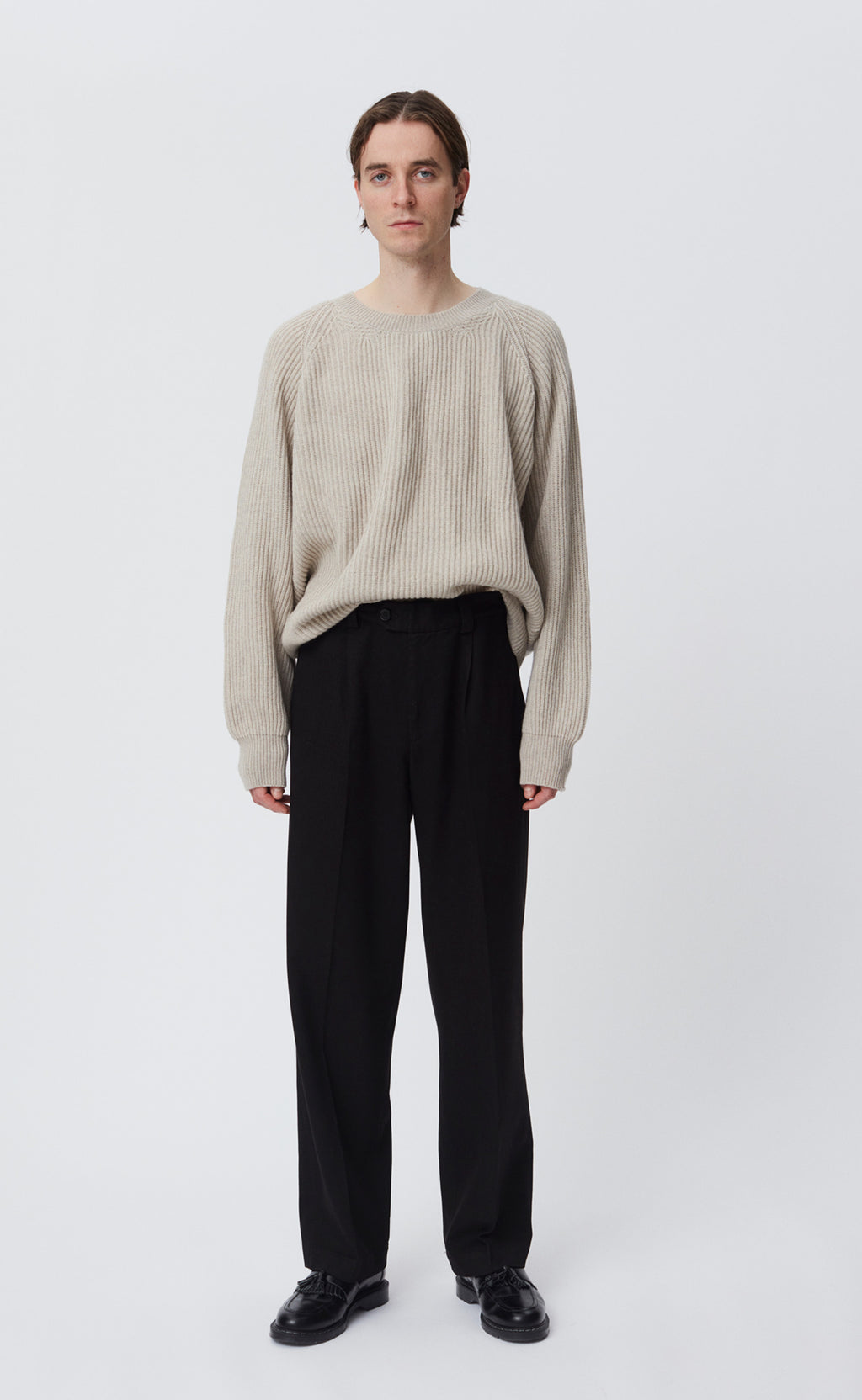 TWILL TROUSERS - BLACK