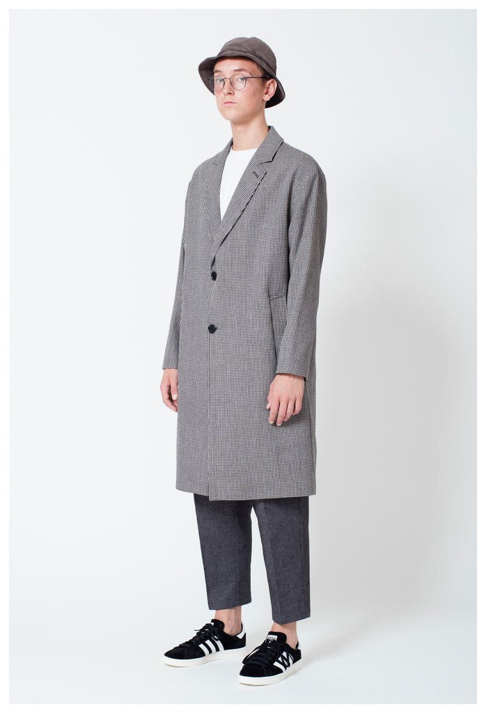 WILLIAM WOOL COAT - CHECK