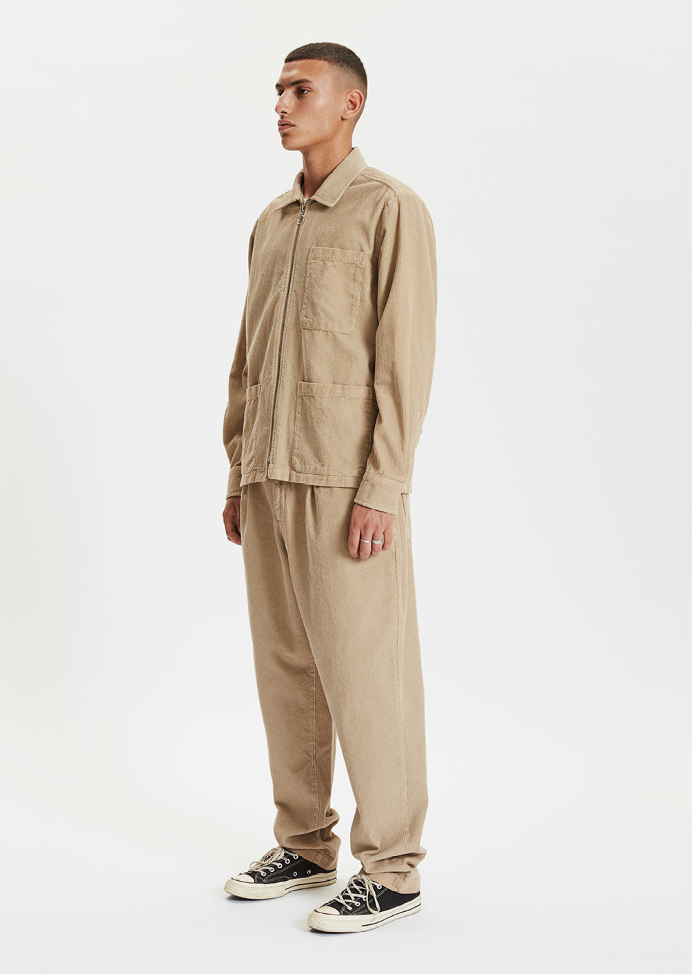 ZIP SHIRT - BEIGE