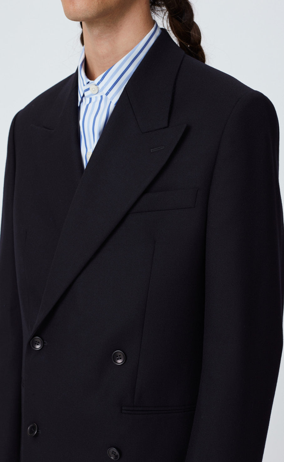 DOUBLE BREASTED BLAZER - DARK NAVY