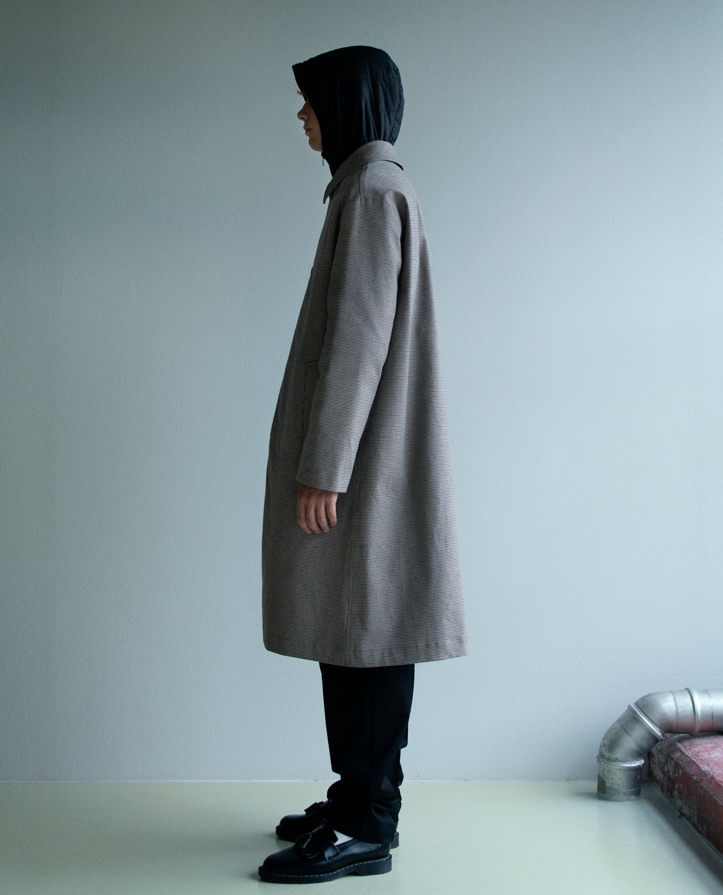ISOLATION COAT - BROWN CHECK