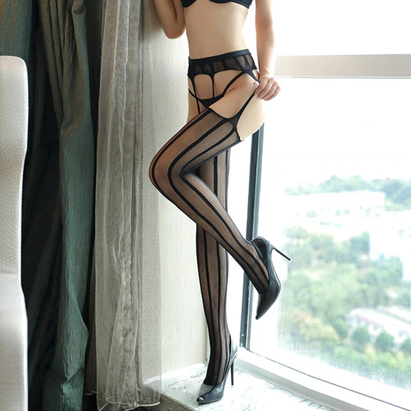 Elegant Line Laced Stockings