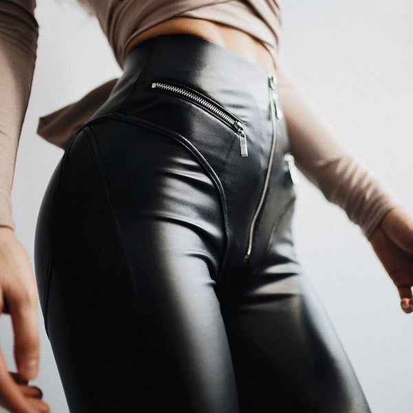 Exotic Leather Zip Pants