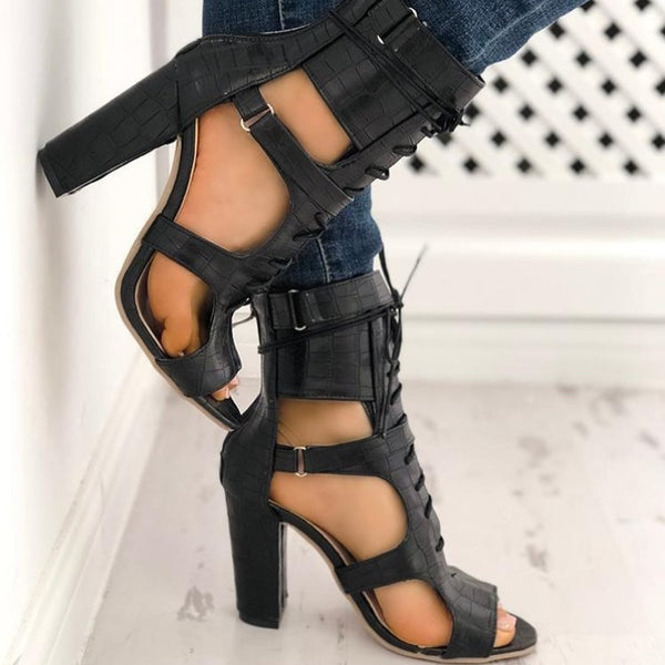 Peep Toe Gladiator Sandals
