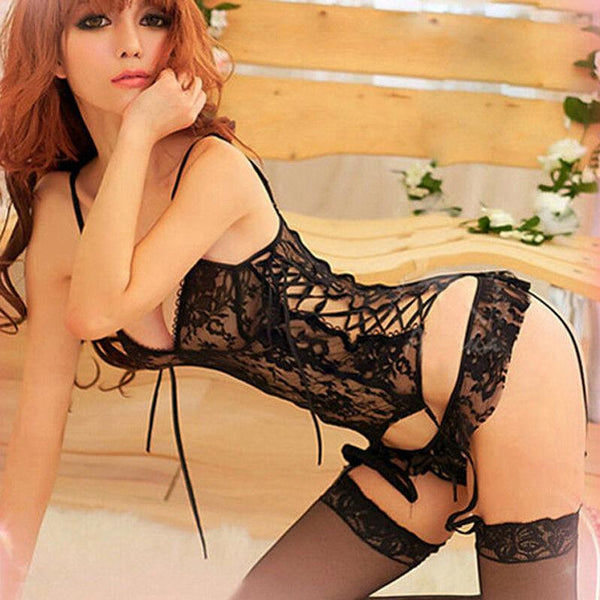 Erotic lingerie set + Garter Belt + G-string