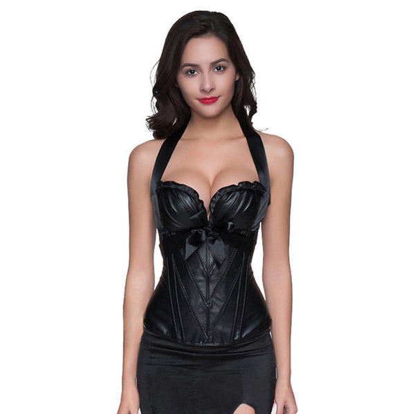 NEW! Black Leather corset!