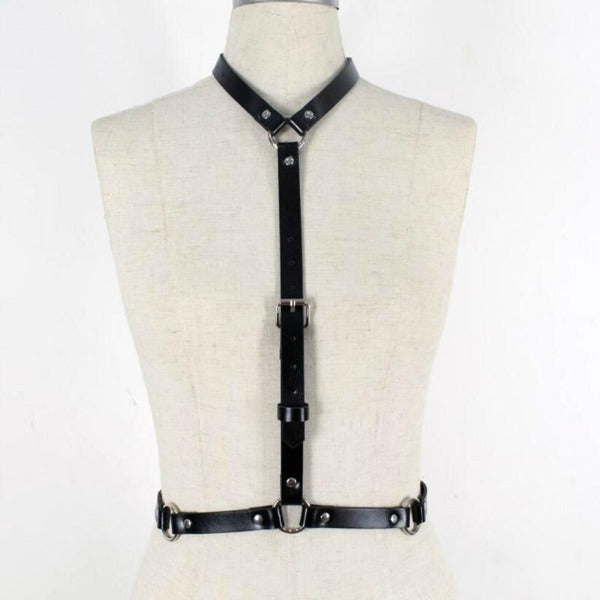 Full Body Punk Leather Harness