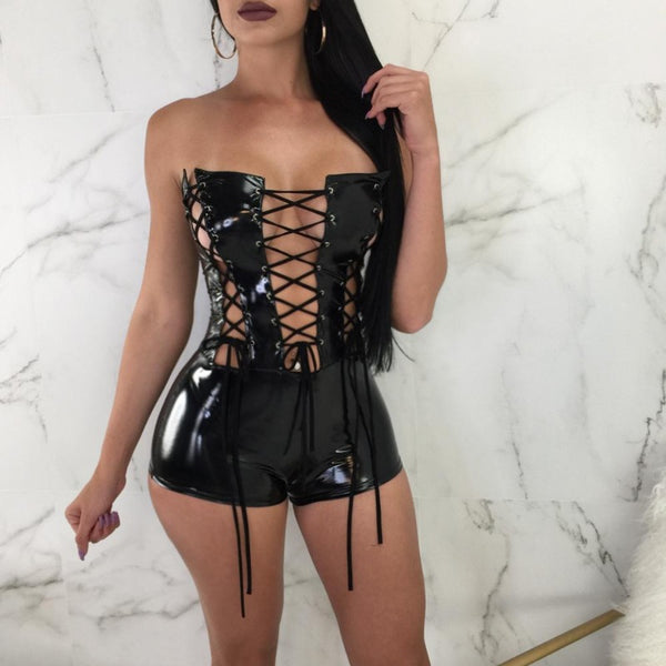 Sexy Club Front Strings Jumpsuits