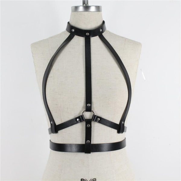 Sexy Choker Straps Chest Cage