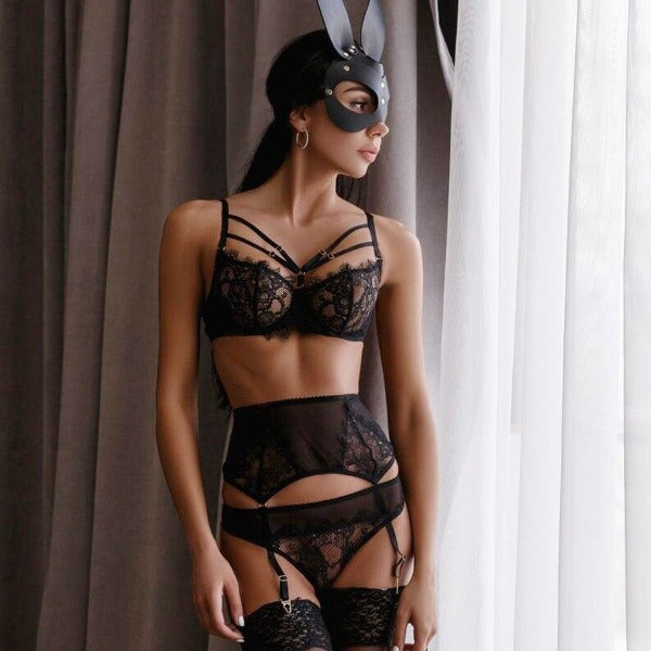 Seamless Patchwork Lingerie Set