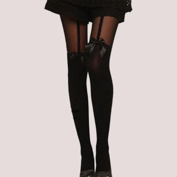 Bow Tights Pantyhose Stockings