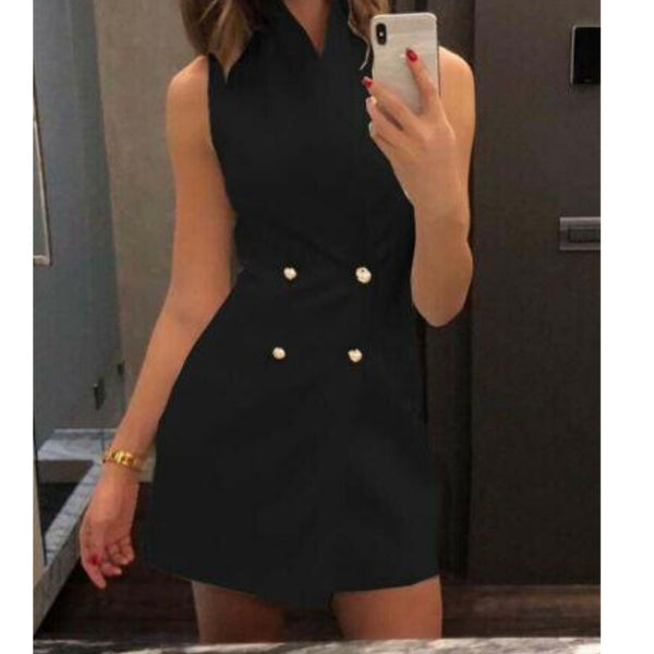 Button Elegant Casual Dress