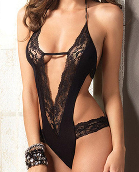 Erotic Lace V-Suit