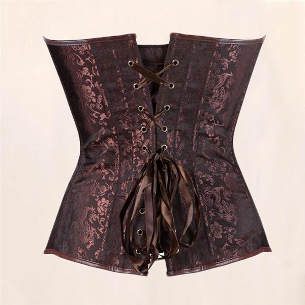 Faux Leather Steampunk Corset
