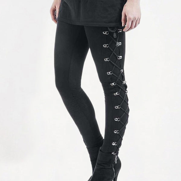 Gothic Side Lace Up Trousers
