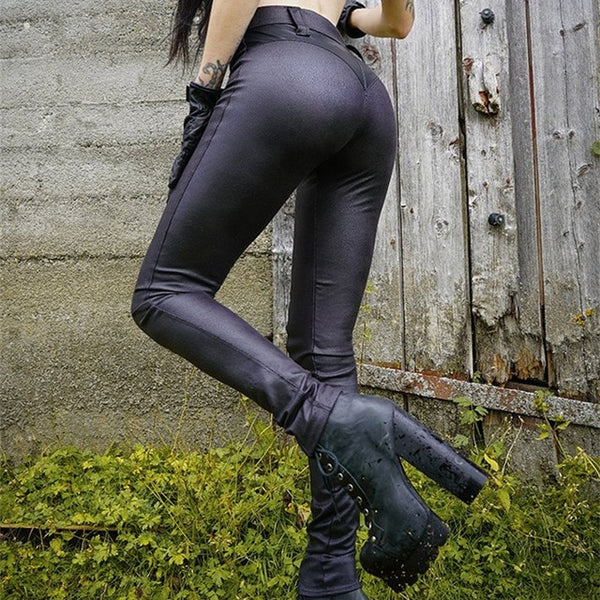 Sexy Slim Leather Leggings