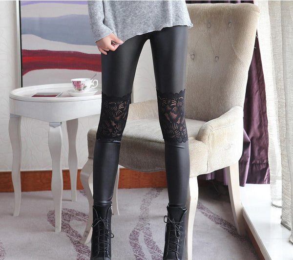 Floral Knee Legging Pants