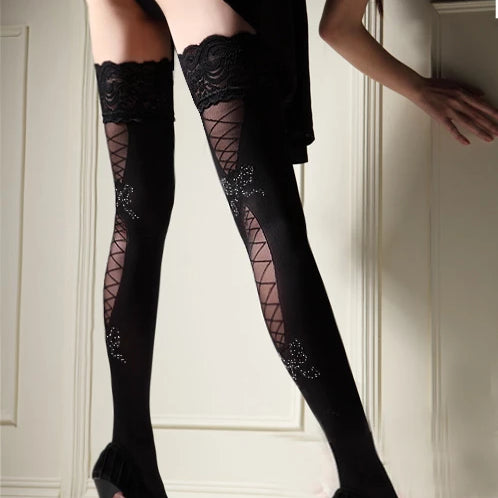 Bow Women Sexy Stockings
