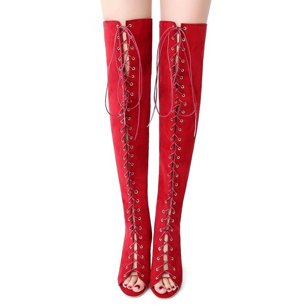 Erotic Tie-up Thigh Boots