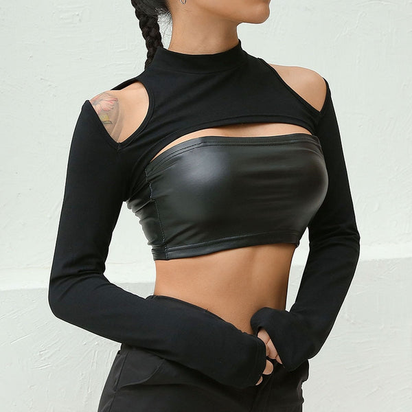 Hollow Sleeve Sexy Tops