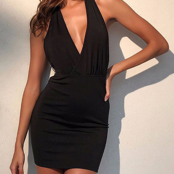Chain Backless Elegant Dress