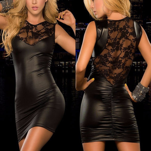 Hot Leather Slim Dress