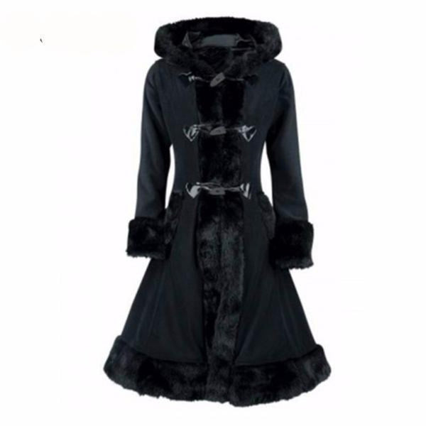 Black Hooded Gothic Coat