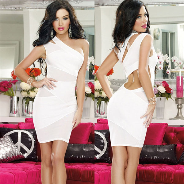 Sleeveless Plunge Bodycon Dress