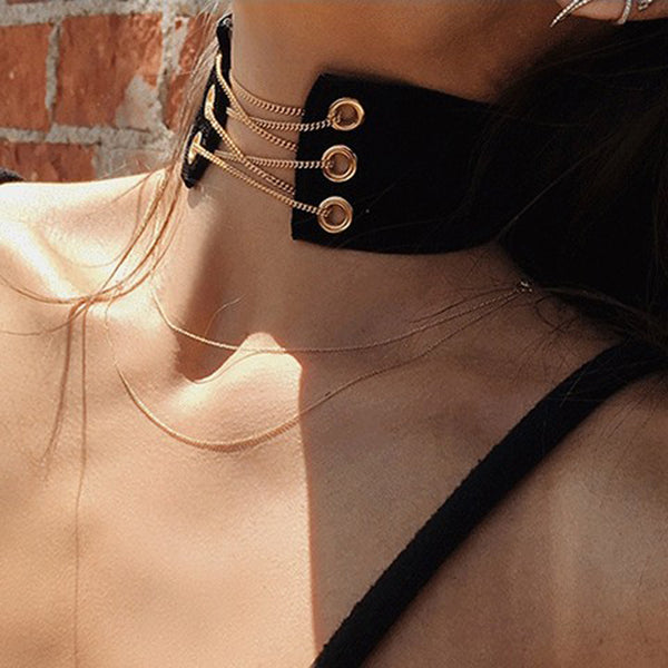 Velvet Chain Fashion Choker