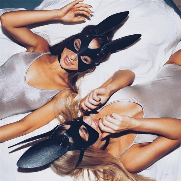 Sexy Bunny Leather Mask