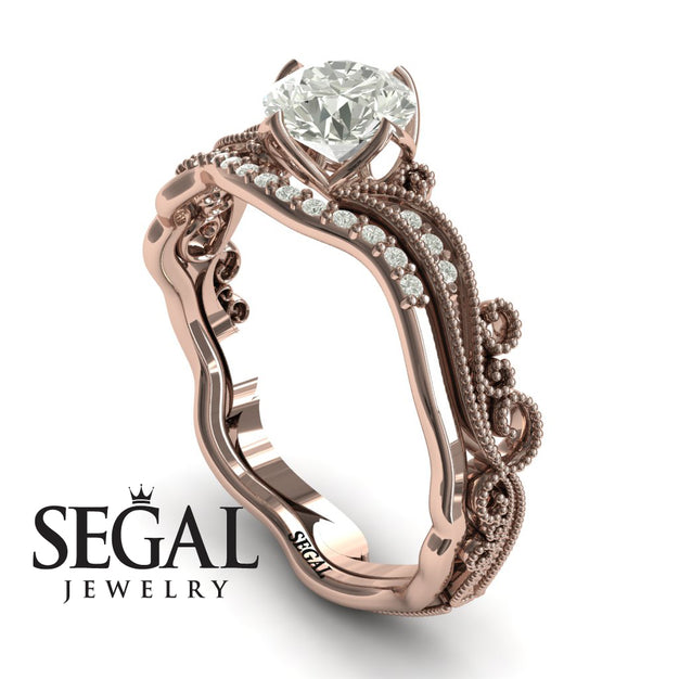 Painter's Muse Bridal Set Diamond Engagement Ring- Rose Gold - Sophie no. 2