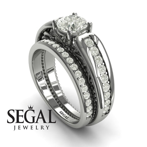 Stairway to Heaven Bridal Set Diamond Ring- Gabriella no. 3