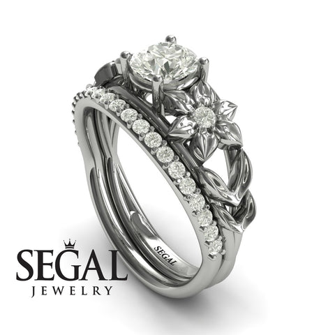 'Fresh Flora' Bridal Set Diamond Ring - Ella no. 3