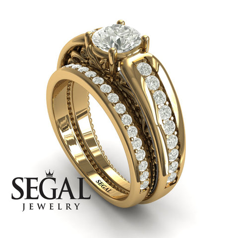 Stairway to Heaven Bridal Set Diamond Ring- Gabriella no. 1