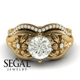 Two Seasons Bridal Set Flower Ring Diamond Ring- Bella no. 1