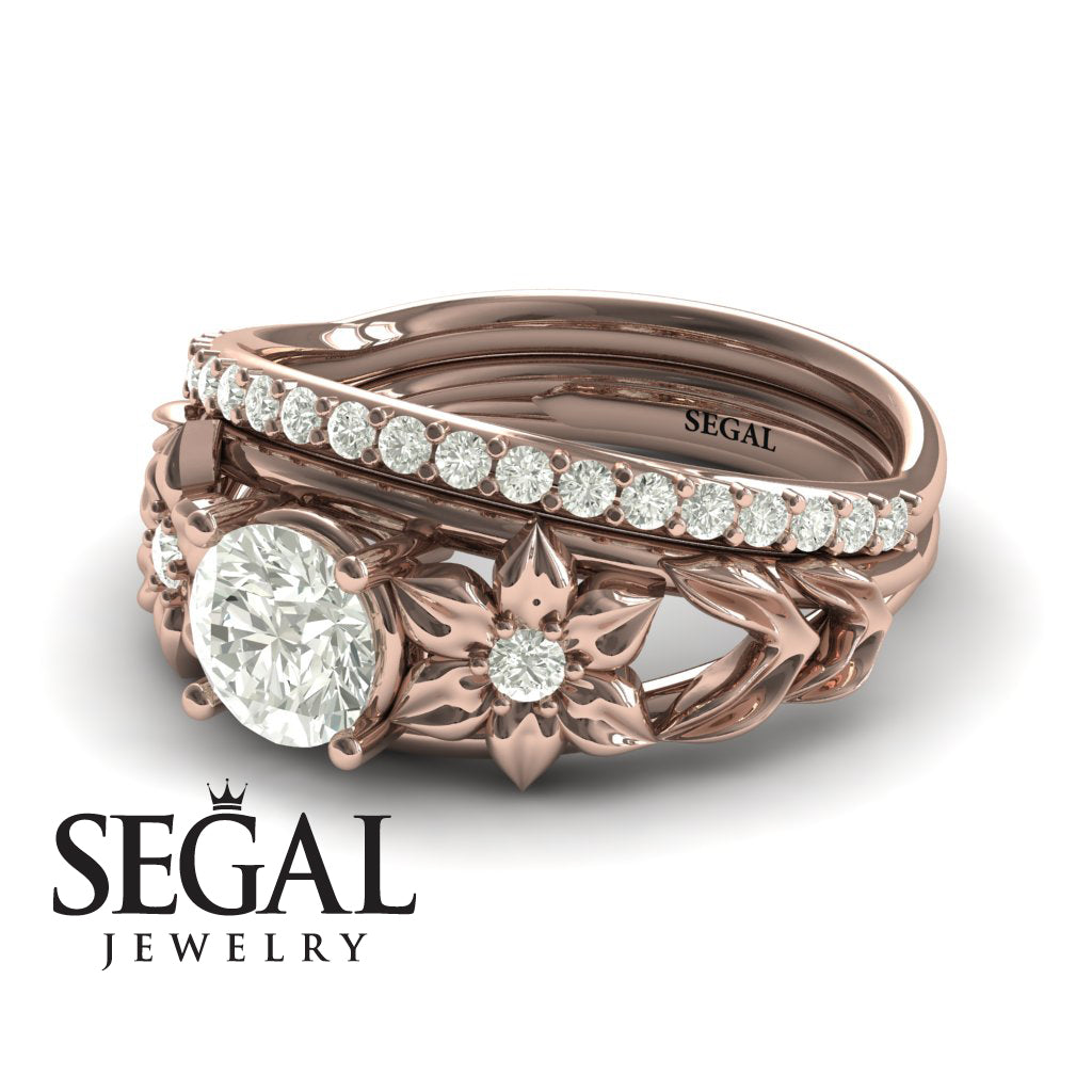 'Fresh Flora' Bridal Set Diamond Ring - Ella no. 2